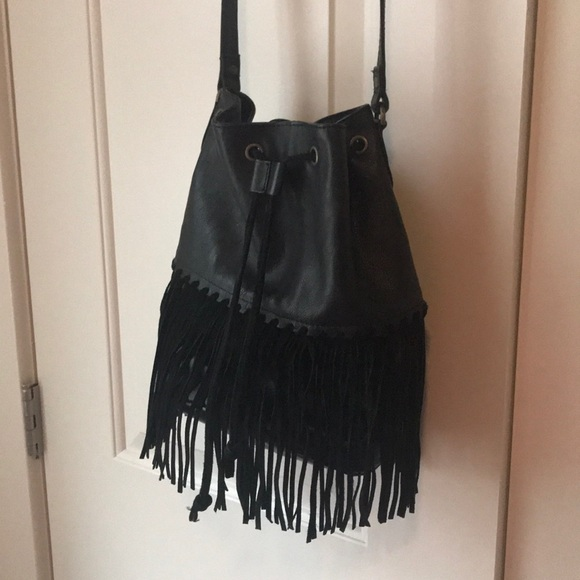 0065da7977 Ecote Leather Fringe Bucket Crossbody Bag